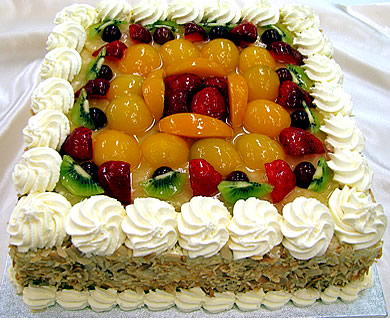 squre mixed fruit cake