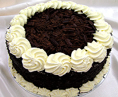 round black rorest cake