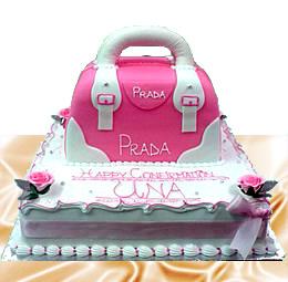 Prada Bag Shape Cake
